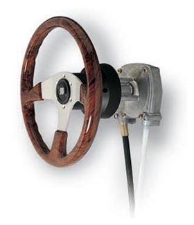 Powerboat steering
