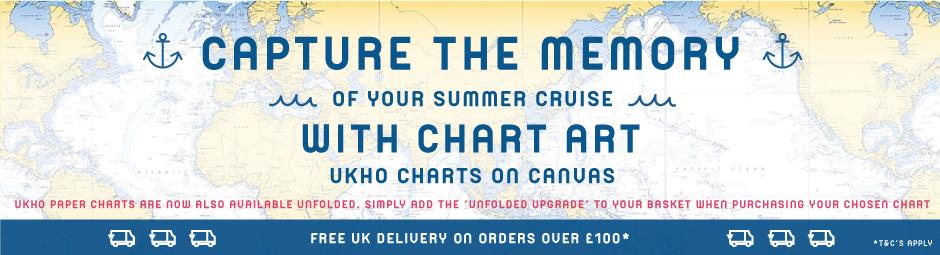 Chart Art - Genuine UKHO Charts On Canvas