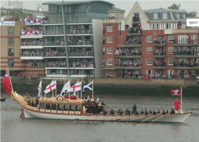 'Gloriana' lost the Royal emblem and her name off her transom - photo: AdamBMorgan