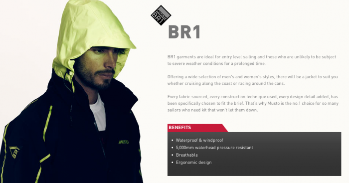 Musto BR1 Fabric Tech