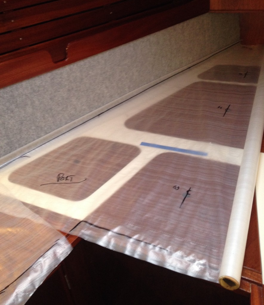 Drawing out a template before cutting the Airmat AG+ to size