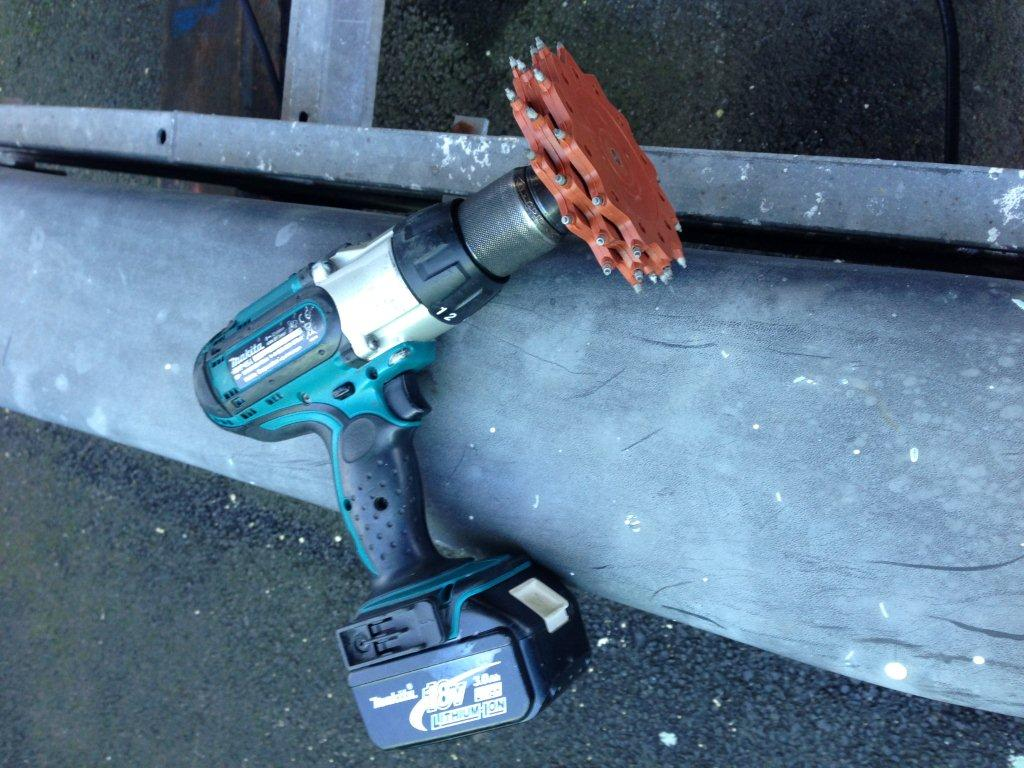 Tercoo Rotating Blaster for removing paint and rust
