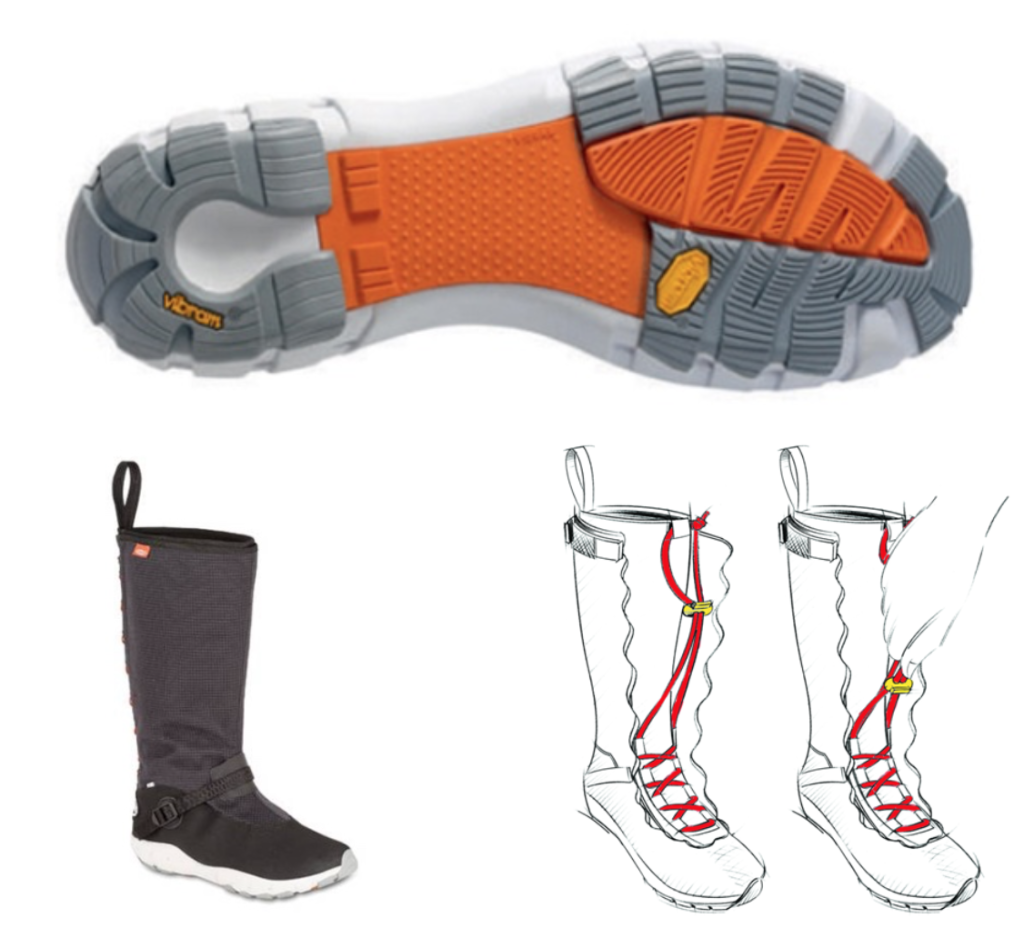 The New Lizard Sailing Boot - Waterproof, Breathable, Excellent Vibram Soles, Inner lacing system for ultimate stability