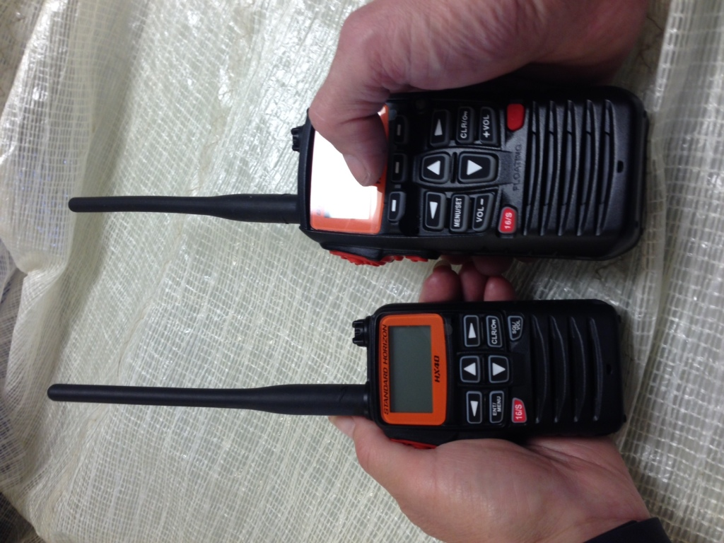 The new Standard Horizon HX40E compact handheld VHF radio
